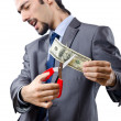 Mcutting money on white — Stock Photo #9290610