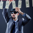Criminal laundering dirty money — Stock Photo #9290829