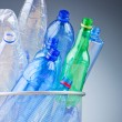 Concept of recycling with plastic bottles — Stock Photo