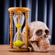 Stock Photo: Death and time concept