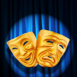 Theatre performance concept with masks — Stock Photo