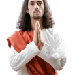 Jesus Christ personifacation isolated on the white — Stock Photo #9375713