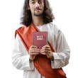 Jesus Christ personifacation isolated on the white — Stock Photo #9375817