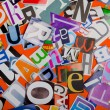 Cut letters from newspapers and magazines — Stock Photo #9376899