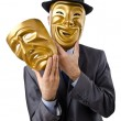 Businessman with mask concealing his identity — Stock Photo #9377149