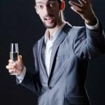 Man tasting wine in glass — Stock Photo #9377241