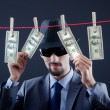 Criminal laundering dirty money — Stock Photo #9377459