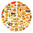 Stock Photo: Circle with lots of food items