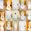 Collection of toilets from various places — Stockfoto