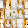 Collection of toilets from various places — Foto de Stock