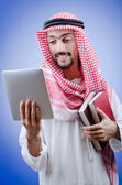 Young arab with tablet computer — Stock Photo