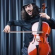 Man playing the cello - Stock Photo