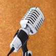 Old vintage microphone on background — Foto de Stock