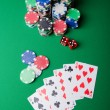 Casino concept with chips and cards - Stock Photo