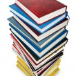 Books in high stack isolated on white — Stock Photo #9469274