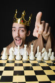 Chess player playing his game — Stock Photo