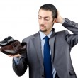 Man with a selection of shoes — Stock Photo #9470308