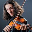 Violin player playing the intstrument — Stock Photo #9470683