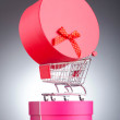 Christmas shopping concept with shopping cart — 图库照片 #9471293