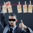 Criminal laundering dirty money — Stock Photo #9471645