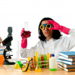 Student working in the chemical lab — Foto de Stock