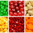 Set of various fruit and vegetables - Stock Photo