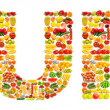 Word made of many fruits — Stock Photo #9471811