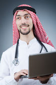 Arab doctor working in hospital — Stock Photo
