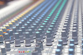 Close up of sound adjusting buttons — Stock Photo