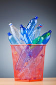 Concept of recycling with plastic bottles — Foto Stock