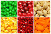 Set of various fruit and vegetables — Foto Stock