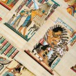 Egyptian history concept with papyrus — Stockfoto