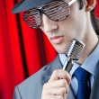 Man performing at the concert — Stock Photo #9625086