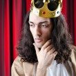 King with crown against background — Stock Photo #9625200