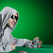 Man playing in the casino — Stock Photo #9625261