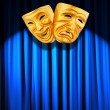 Theatre performance concept with masks — Foto Stock
