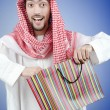 Arab with the gift bags — Foto de Stock