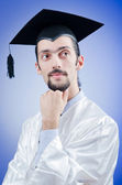 Young male student graduate — Stock Photo