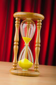 Hour glass in time concept — Stock Photo