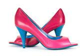 Scarpe donne rosse nel concetto di moda — Foto Stock