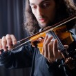 Young violin player playing — Stock Photo