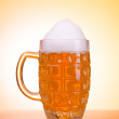 Beer glass on the table - Stock Photo