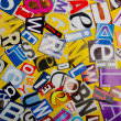 Stock Photo: Cut letters from newspapers and magazines