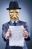 Businessman in industrial espionage concept — Stock Photo