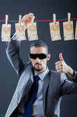Criminal laundering dirty money — Stock Photo
