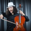 Stock Photo: Man playing the cello