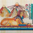 Egyptihistory concept with papyrus — Stockfoto #9698568