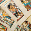 Egyptian history concept with papyrus — Stock Photo #9698620