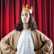 King with crown against background — Foto de stock #9698653