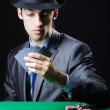 Man playing in the casino — Stock Photo #9698657